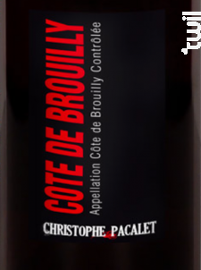 Côte-de-Brouilly - Christophe Pacalet - 2016 - Rouge