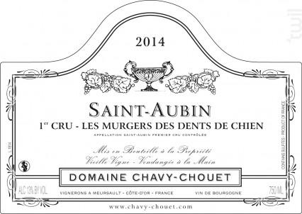 Saint-Aubin Premier Cru Les Murgers des Dents de Chien - Domaine Chavy-Chouet - 2017 - Blanc