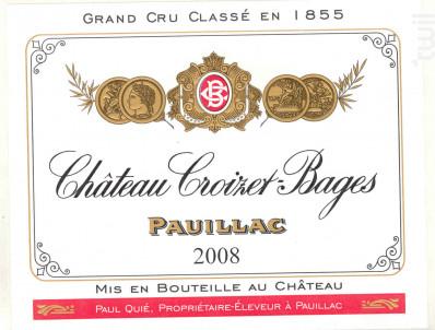 Château Croizet Bages - Château Croizet Bages - 1996 - Rouge