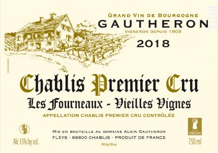 Chablis Premier Cru Les Fourneaux - Vieilles Vignes - Domaine Gautheron Alain et Cyril - 2018 - Blanc