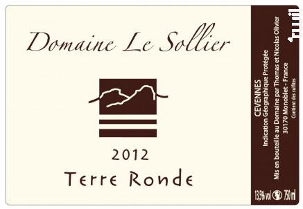 Terre Ronde - Domaine Le Sollier - 2018 - Rouge