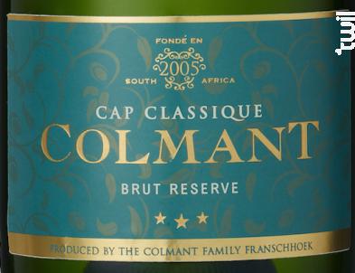 Brut Réserve - Chardonnay, pinot noir - COLMANT - Non millésimé - Effervescent