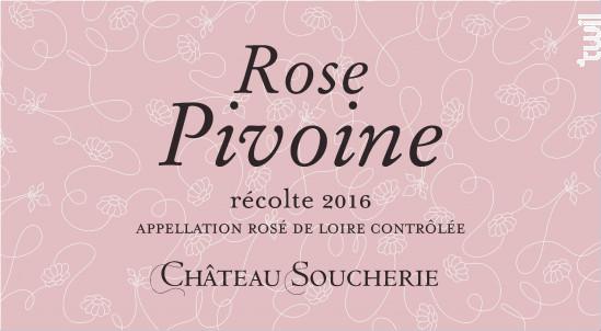 Rose Pivoine - Château Soucherie - 2018 - Rosé