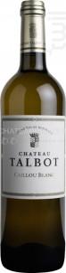 Caillou Blanc de Château Talbot - Château Talbot - 2017 - Blanc