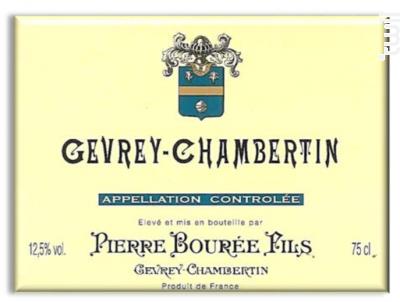 GEVREY CHAMBERTIN 1ER CRU - Pierre Bourée Fils - 1987 - Rouge