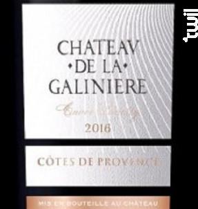 Cuvée Badetty - Château de la Galinière - 2016 - Rouge