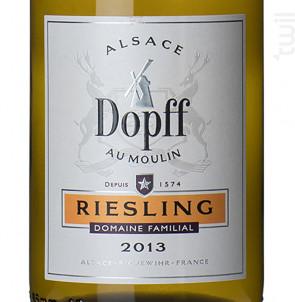 Riesling de Riquewihr - Dopff Au Moulin - 2016 - Blanc