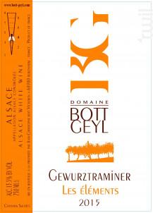Gewurztraminer Les Eléments - Domaine BOTT GEYL - 2016 - Blanc