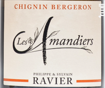 Les Amandiers - Domaine RAVIER Philippe - 2016 - Blanc