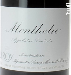 MONTHELIE - Domaine Leroy - 2015 - Rouge