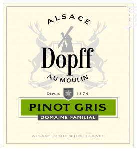 Pinot Gris de Riquewihr - Dopff Au Moulin - 2018 - Blanc