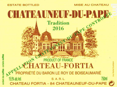 Tradition - Château Fortia - 2016 - Rouge