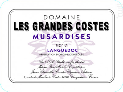 Musardises - LES GRANDES COSTES - 2018 - Rouge