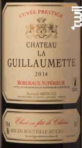 Château la Guillaumette Prestige - Vignobles Artigue - 2016 - Rouge