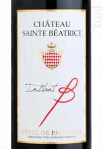 INSTANT B - Château Sainte Béatrice - 2015 - Rouge