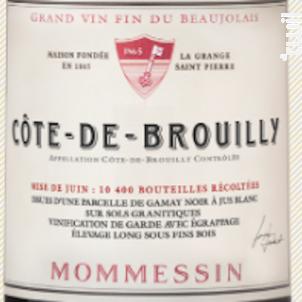 Côte de Brouilly Grandes Mises - Mommessin - 2016 - Rouge