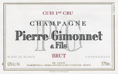 Brut Cuis Premier Cru - Pierre Gimonnet et Fils - Non millésimé - Effervescent