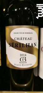 Château Sérilhan - SCEAM Marcelis - Château Sérilhan - 2014 - Rouge