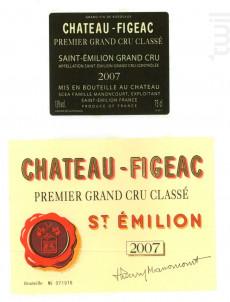 Château figeac - Château Figeac - 2007 - Rouge