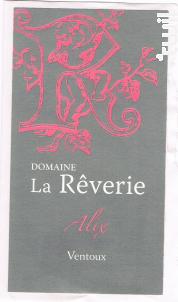 Alix - Domaine de  la Rêverie - 2016 - Rosé