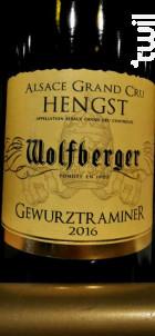 Gewurztraminer - Grand Cru Hengst - Wolfberger - 2016 - Blanc