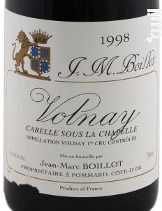 Volnay Premier Cru Carelle Sous La Chapelle - Domaine Jean-Marc Boillot - 2011 - Rouge
