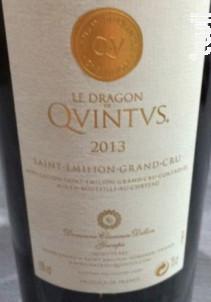Le Dragon de Quintus - Château Quintus - 2013 - Rouge