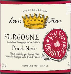 Bourgogne Pinot noir Bio - Louis Max - 2018 - Rouge