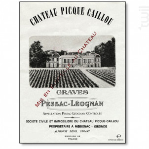 Château Picque Caillou - Château Picque Caillou - 2012 - Rouge