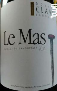 Le Mas - Domaine Clavel Languedoc - 2016 - Rouge