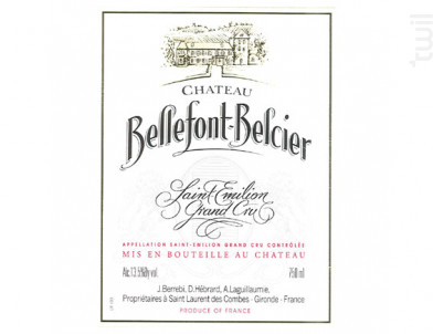 Château Bellefont-Belcier - Château Bellefont-Belcier - 2018 - Rouge
