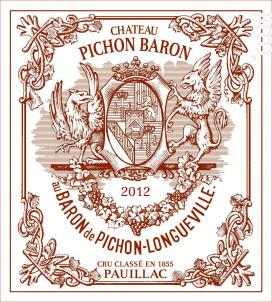 Château Pichon Baron - Château Pichon Baron - 2012 - Rouge