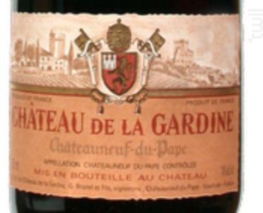 Cuvée Tradition - Château de la Gardine - 2015 - Rouge