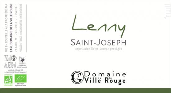 Lenny - Domaine de la Ville Rouge - 2019 - Blanc