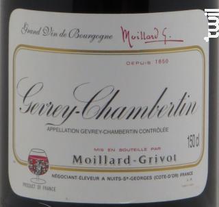 Gevrey-Chambertin - Moillard-Grivot - 2001 - Rouge
