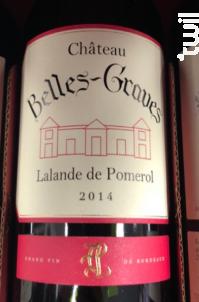 Château Belles-Graves - Château Belles-Graves - 2014 - Rouge