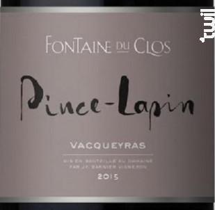 Pince Lapin - Domaine Fontaine du clos - 2016 - Rouge