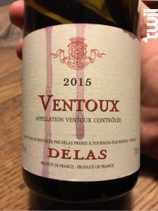 Cuvée Ventoux - Maison Delas - 2015 - Rouge