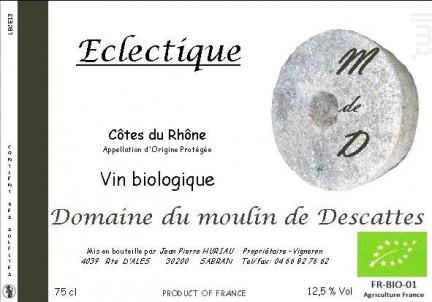 Cuvée Eclectique - Domaine du Moulin de Descattes - 2015 - Blanc