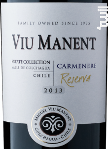 Estate collection reserva - carmenere - Viu Manent - 2017 - Rouge