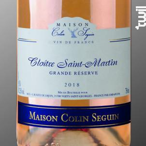Cloitre Saint Martin - Grande Réserve - Maison Colin Seguin - 2018 - Rosé