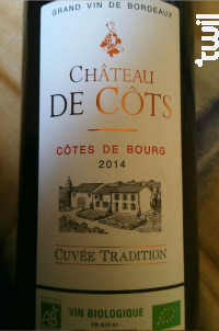 Chateau de Côts Cuvée Tradition - Château de Côts - 2016 - Rouge