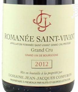 ROMANEE SAINT VIVANT - Domaine Jean-Jacques Confuron - 2004 - Rouge
