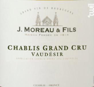 Chablis Grand Cru Vaudésir - J. Moreau et Fils - 2009 - Blanc