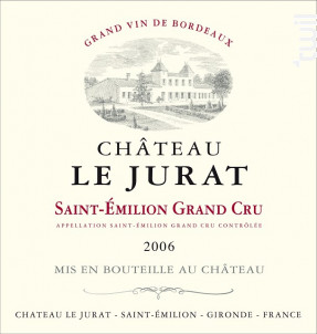 Château Le Jurat - Château Le Jurat - 2006 - Rouge