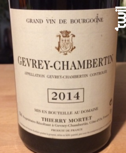 Gevrey-Chambertin - Domaine Thierry Mortet - 2015 - Rouge