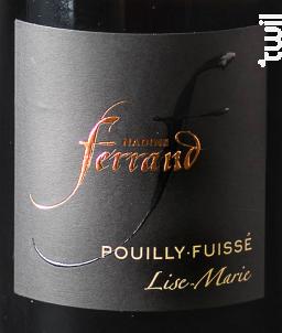 Cuvée Lise-Marie - Domaine Nadine Ferrand - 2016 - Blanc