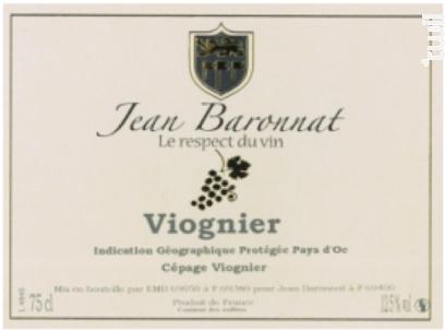 Viognier - Baronnat Jean - Non millésimé - Blanc