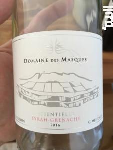 Cuvée Essentielle – Syrah – Grenache - Domaine des Masques - 2016 - Rosé