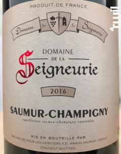 Saumur Champigny - Domaine de la Seigneurie - 2017 - Rouge